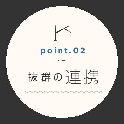 point.02 抜群の連携